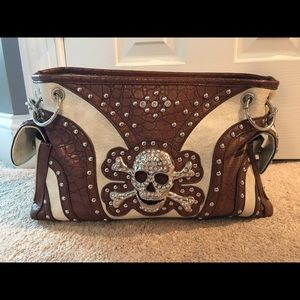 leather skull purse